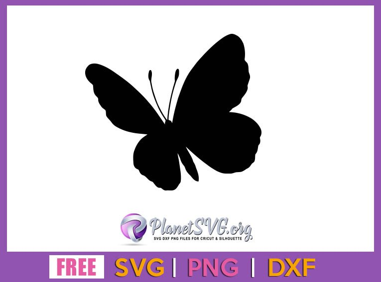 Butterfly clip art SVG Free File for Cricut DXF Silhouette PNG Clipart Shirt Design Download Vector Insect Free svg