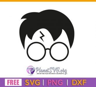 Hair Glasses Harry Potter SVG Free File for Cricut DXF Silhouette PNG Clipart Shirt Design Download Vector Movie Free svg